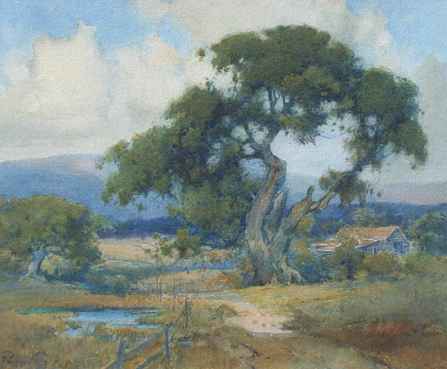 Percy Gray - Landscape with Oaks
