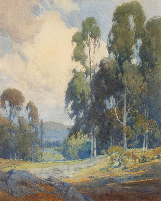Percy Gray - Marin Landscape with Eucalypti